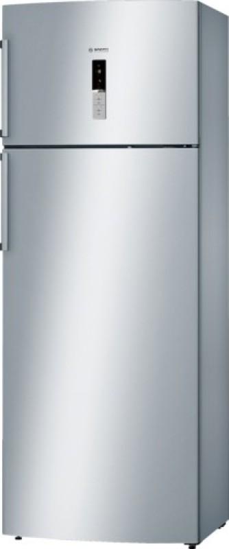 Bosch 401 L Frost Free Double Door 2 Star Refrigerator(Silver Inox, KDN46XI30I)