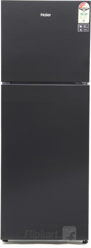 Haier 247 L Frost Free Double Door Refrigerator(Black Glass, HRF-2674PKG-R/E)