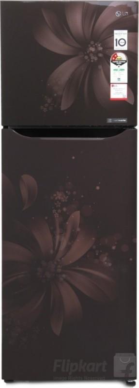 LG 255 L Frost Free Double Door Refrigerator(Hazel Aster, GL-Q282SHAR)