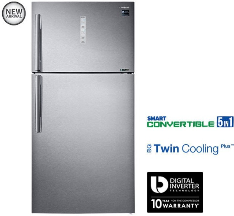 Samsung 637 L Frost Free Double Door Refrigerator(Grey/EZ Clean Steel/VCM,...