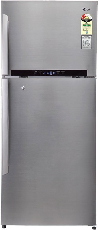 LG 546 L Frost Free Double Door Refrigerator(Shiny Steel/Platinum Silver...