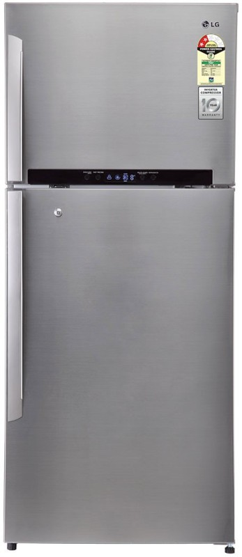 LG 511 L Frost Free Double Door Refrigerator(Shiny Steel/Platinum Silver-3,...