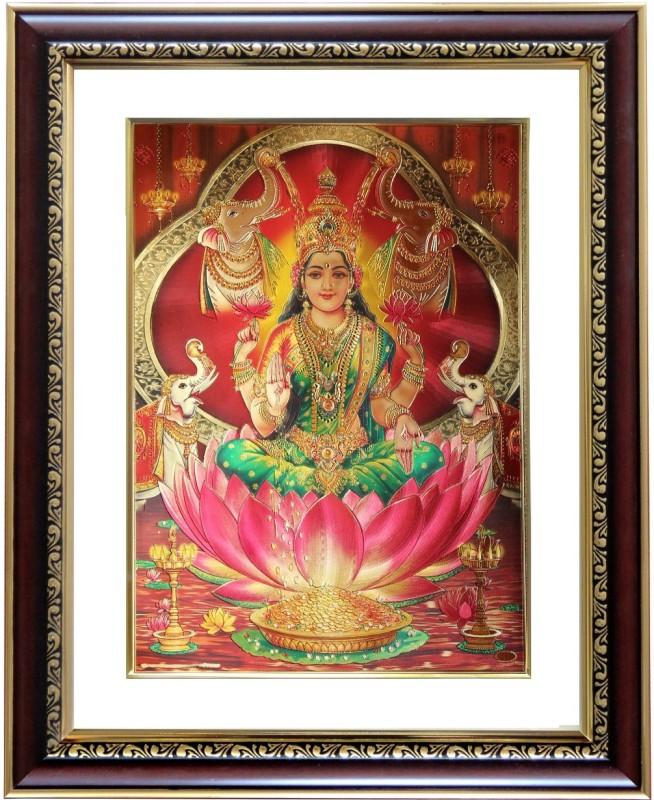 GoldArt GajaLakshmi Gold Foil Religious Frame