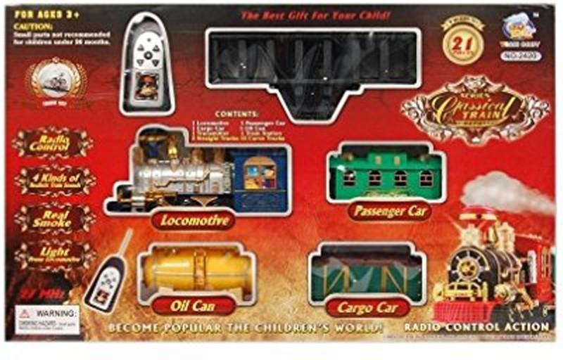 Maxplanet Classical Battery Operated Radio Control Smoke Train set (21 Pcs)(Multicolor)(Multicolor)