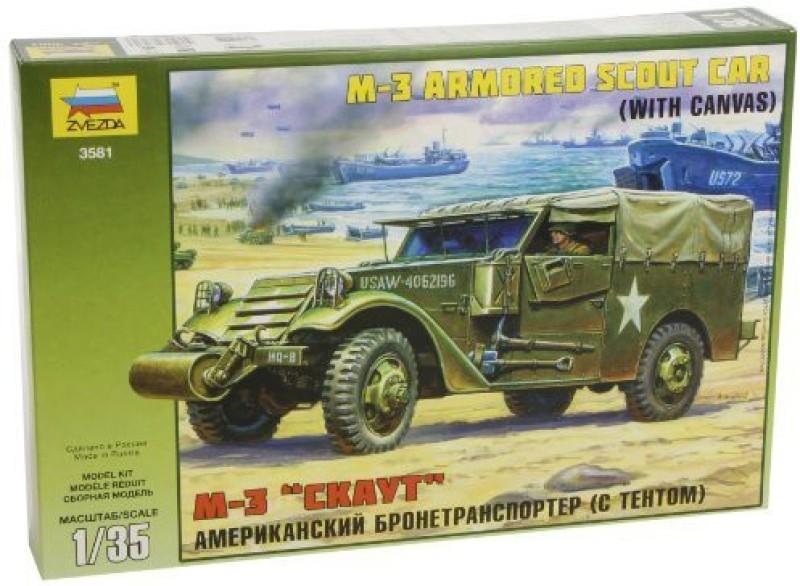 Zvezda Models M-3 Armored Scout Car(Multicolor91)