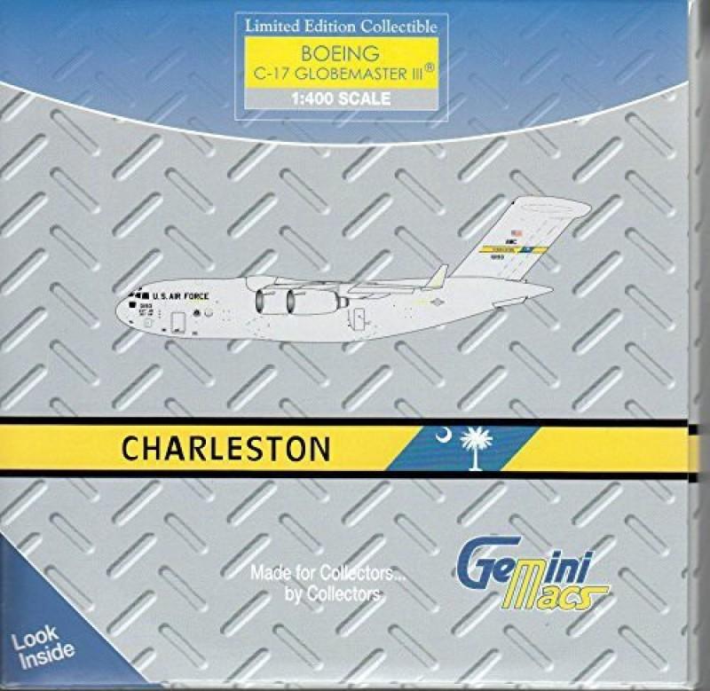 GeminiMac USAF Globemaster C-17 (Charleston AFB) Diecast Aircraft (1:400 Scale)(Multicolor20)