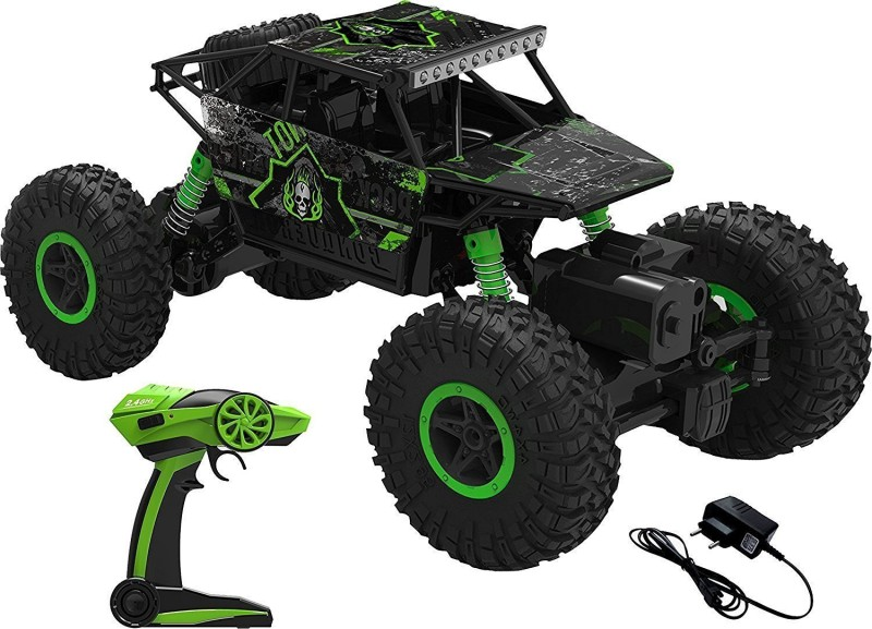 AIBANI Modern HB ROCK CRAWLER (Original) 1:18 Scale 4WD 2.4 Ghz 4x4 RALLY CAR (Color may vary)(Green)