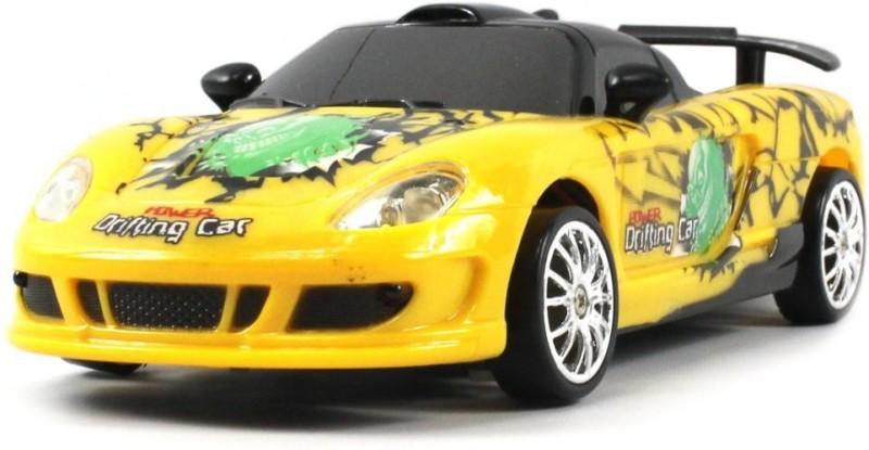 Saffire Porsche Carrera GT Graffiti Electric RC Rechargeable Drift Car 1:24 Scale(Yellow)