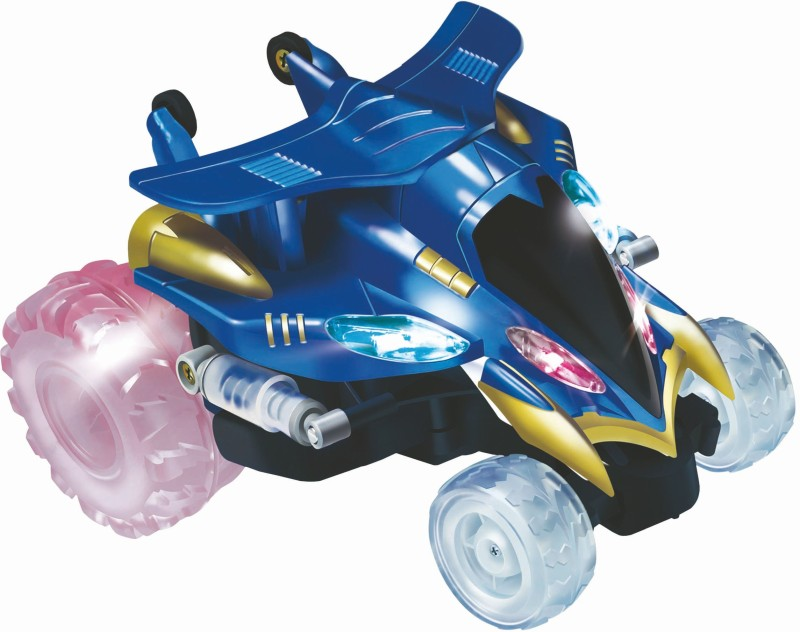 Mitashi Dash Rechargeable R/C Nutter Spinner Car-Blue(Blue)