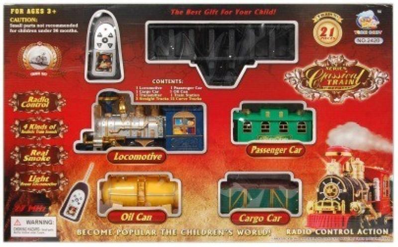 Shop & Shoppee Classical Battery Operated Radio Control Smoke Train set (21 Pcs)(Multicolor)