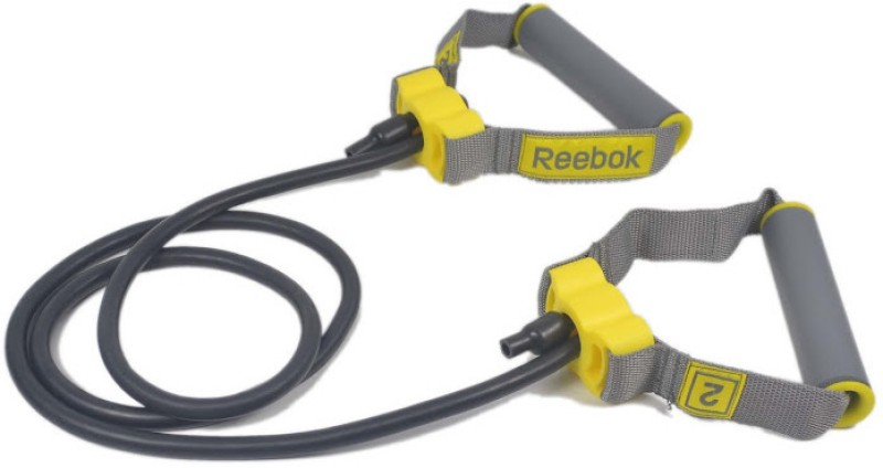 REEBOK Studio Adjustable Resistance Tube Level - 2 Resistance Tube(Black, Yellow)