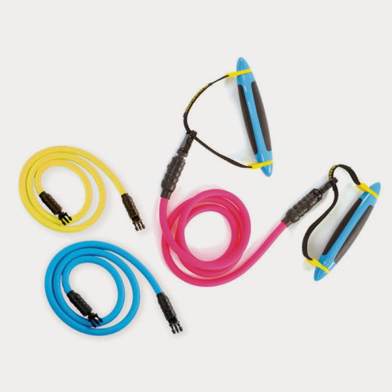 REEBOK Pro S Set of 3 Resistance Tube(CYAN)