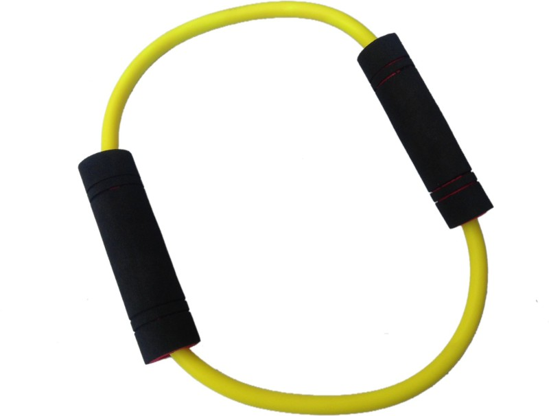 Sahni Sports Figure O Band Light Resistance Tube(Yellow, Black)