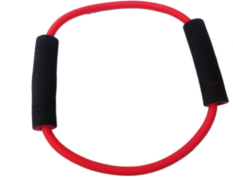 Sahni Sports Figure O Band Medium Resistance Tube(Red, Black)
