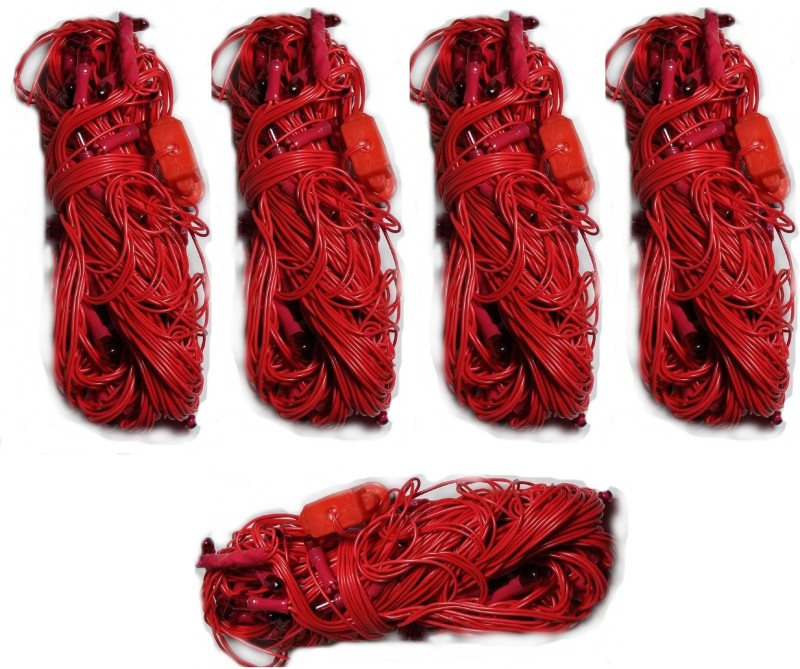 LES 312 inch Red Rice Lights(Pack of 5)