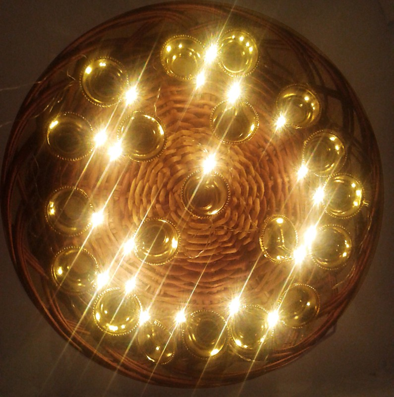 VRCT 109 inch Gold Rice Lights(Pack of 1)