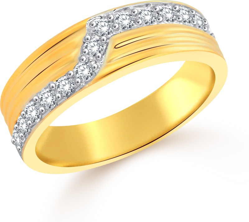 Classic Soulmate (CZ) for Men [CJ5009FRG22] Alloy Cubic Zirconia Gold-plated Plated Ring