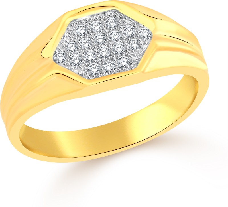 Classic Mogul (CZ) for Men [CJ5015FRG16] Alloy Cubic Zirconia Gold-plated Plated Ring