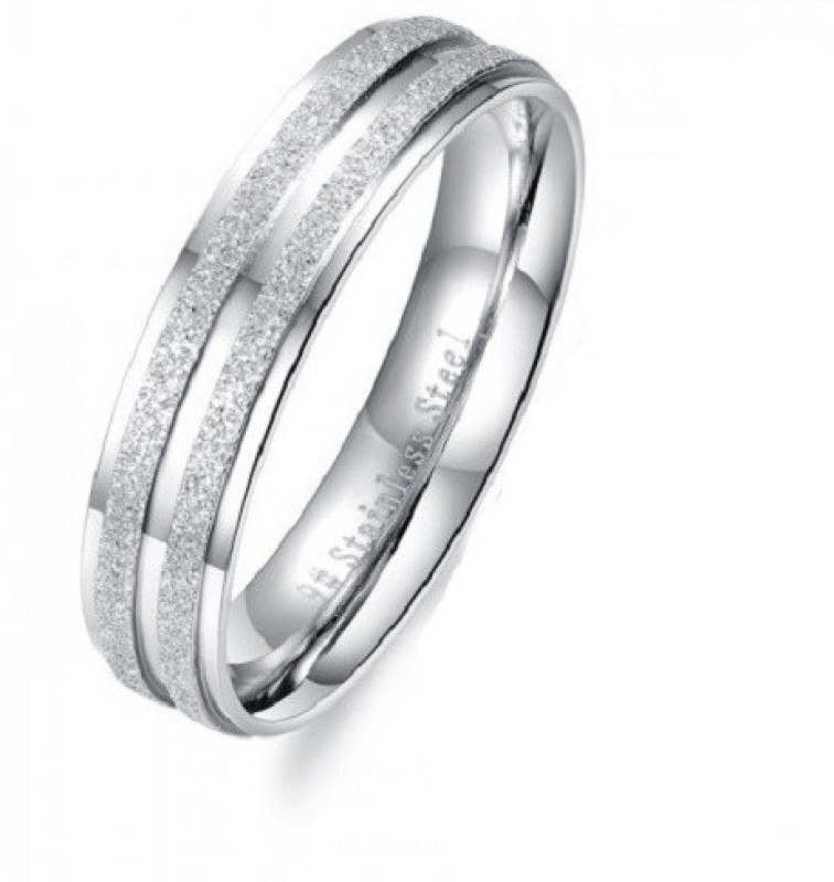 Aaishwarya Elegant Frost Textured Mens Stainless Steel Ring