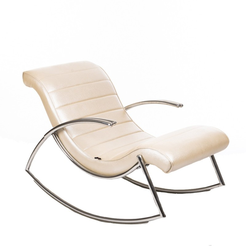 Irony Furniture NA Metal 1 Seater Rocking Chairs(Finish Color - Steel)