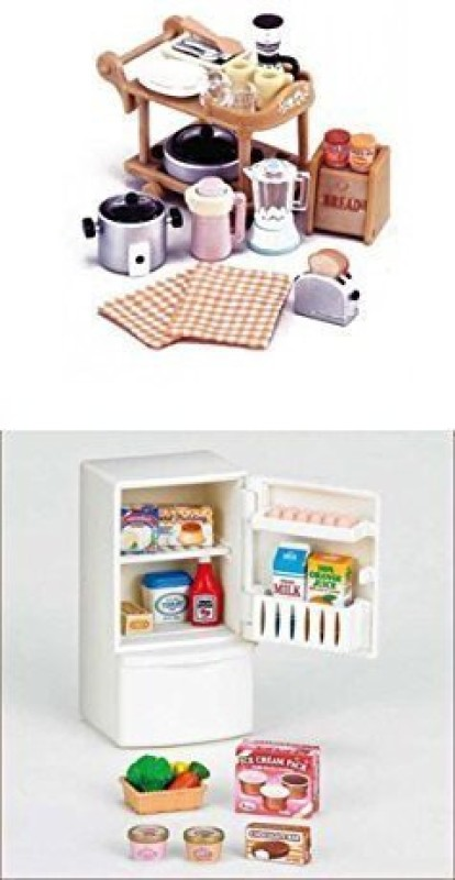 Sylvanian Families Sylvanian Families Sets with Accessories - Kitchen Appliances & Refrigerator Sets Sold Together