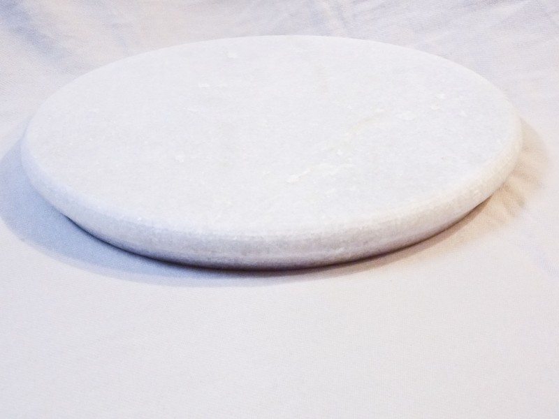 Oralee Marble Chakla Board(White, Pack of 1)