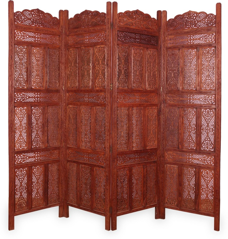 onlineshoppee-solid-wood-decorative-screen-partitionfree-standing-finish-color-american-chestnut
