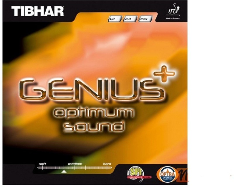Tibhar genius + optimum sound 11.3 mm Table Tennis Rubber(Black)