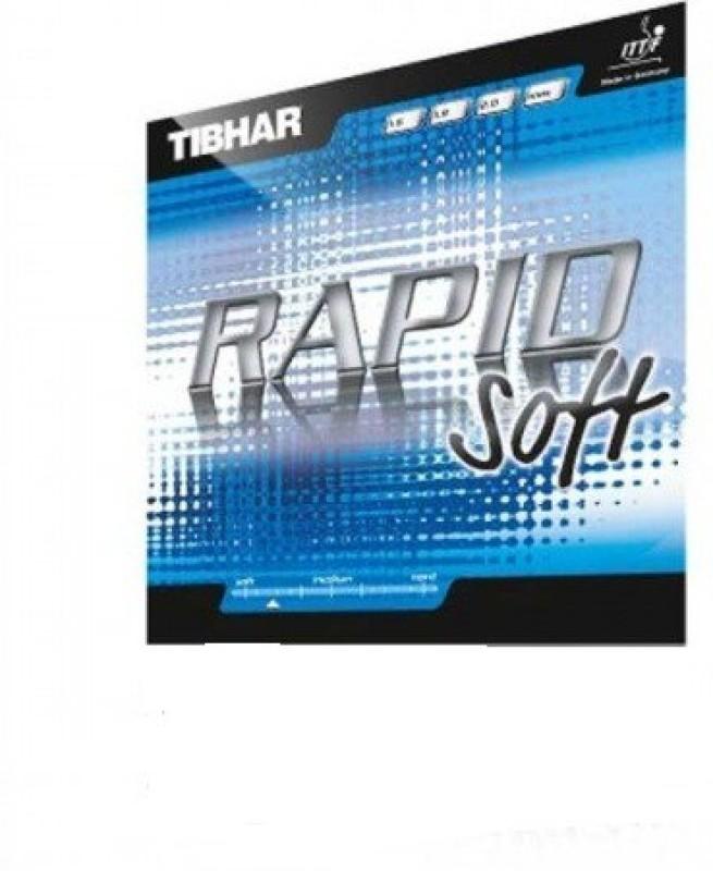 Tibhar rapid soft 11.3 mm Table Tennis Rubber(Black)