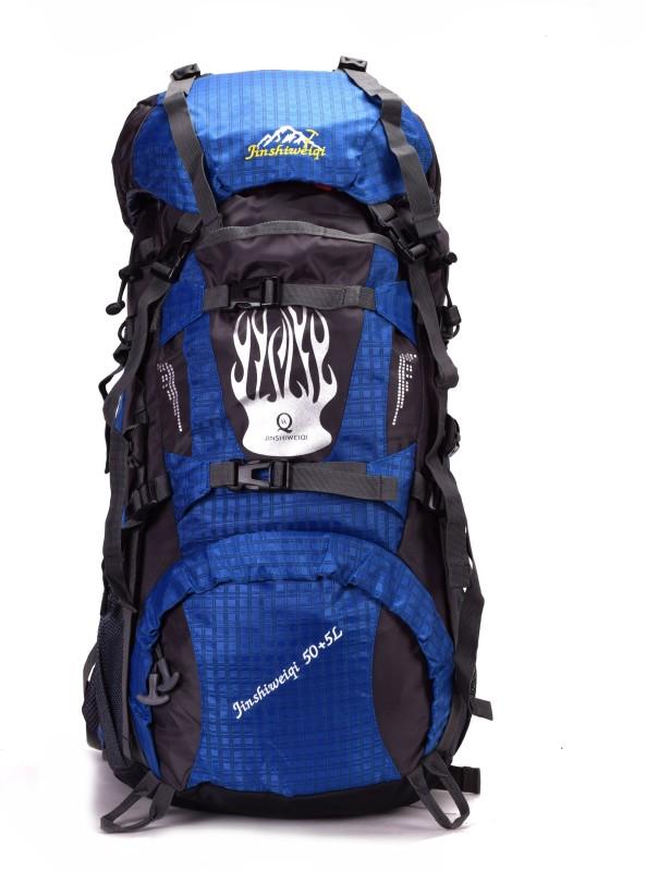 ANNI CREATIONS Jinshi Free Size Rucksack - 55 L(Blue)