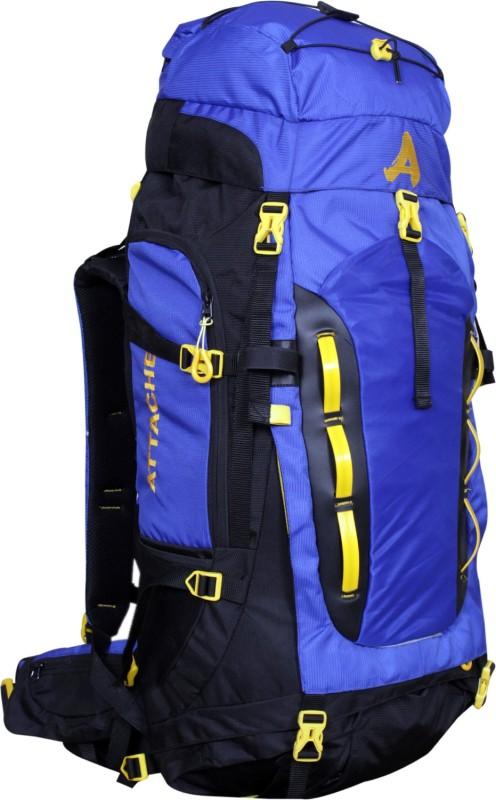 Attache Robust Rucksack, Hiking Backpack 75Lts Blue & Black With Rain Cover Rucksack  - 75 L(Blue, Black)