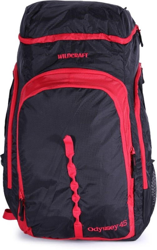 Wildcraft odyssey 45 red Rucksack(Red, Black)