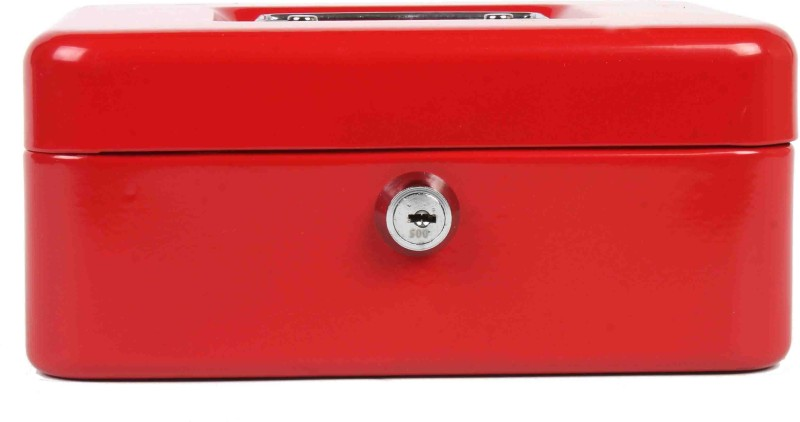 Shraddha Collections Plain Cash Box Safe Locker(Key Lock)