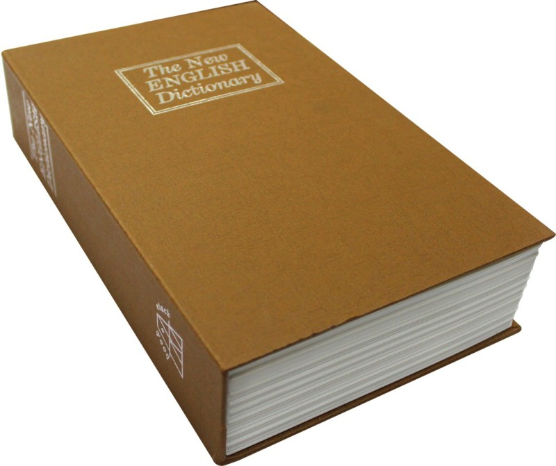 Radiusin English Dictionary Brown Color (Large) Safe Locker(Key Lock)