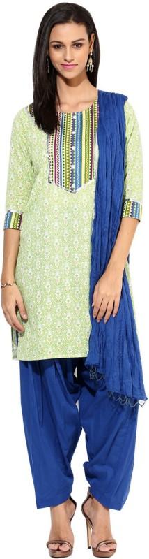 Jaipur Kurti Printed Kurta & Churidar(Stitched)