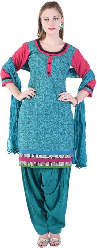 10 Star Self Design Kurti & Patiyala(Stitched)