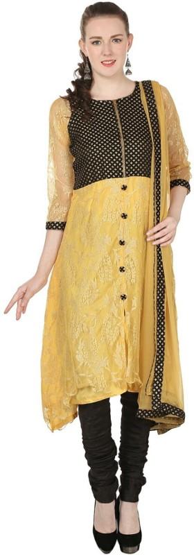 Aavaya Fashion Self Design Kurta & Churidar(Stitched)