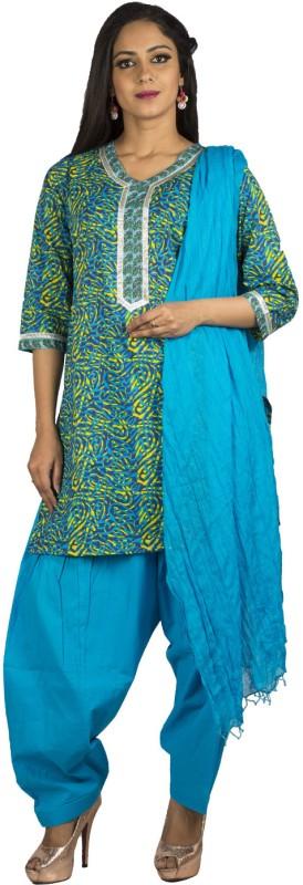 Jaipur Kurti Printed, Solid Kurti & Patiyala(Stitched)
