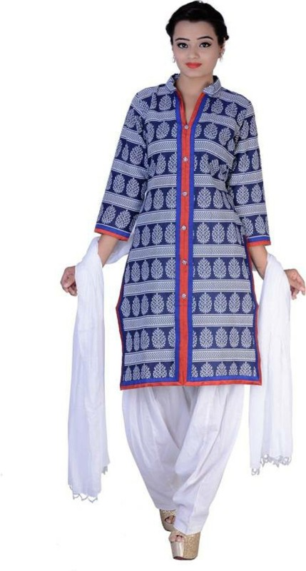 10 Star Self Design Kurti & Patiyala(Stitched)