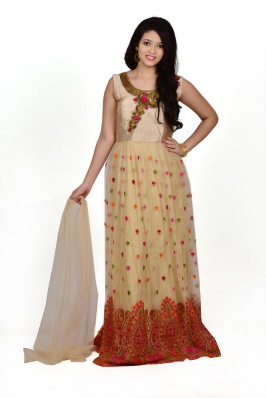 Saarah Self Design Kurti & Salwar(Stitched)