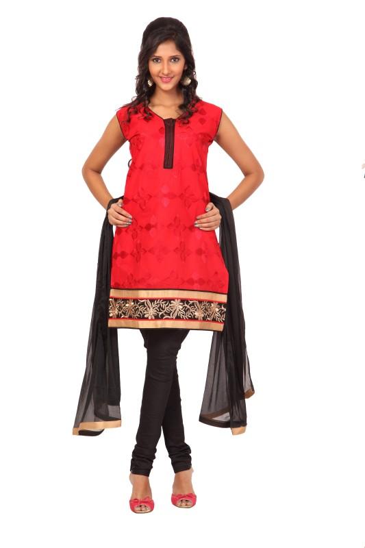 Fashion Stylus Embroidered Kurta & Churidar(Stitched)