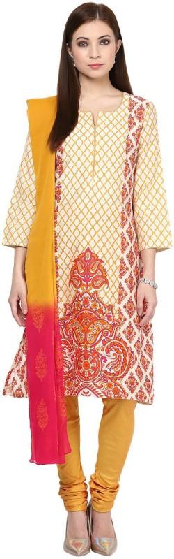Trishaa by Pantaloons Printed Kurta & Churidar(Stitched)