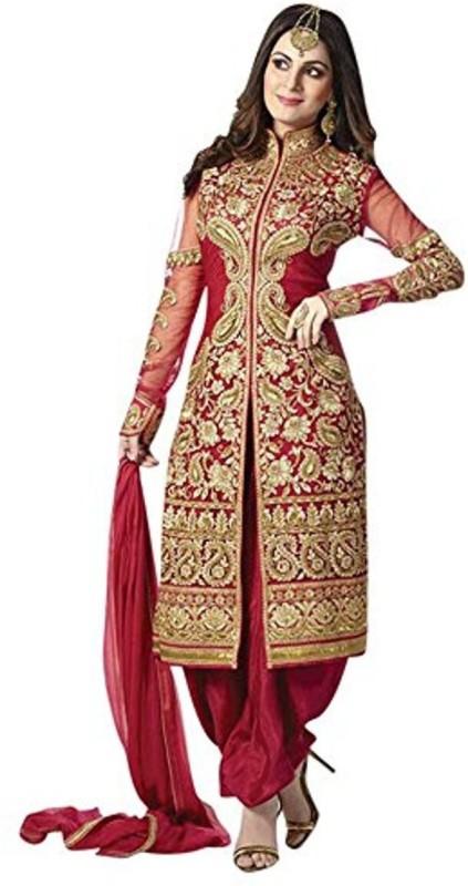 Bollywood Designer Self Design Kurta & Salwar(Stitched)