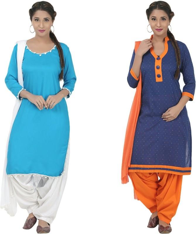 Aafra Fashion Printed Kurta & Patiyala(Stitched)