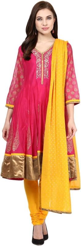 Trishaa by Pantaloons Solid Kurta & Churidar(Stitched)
