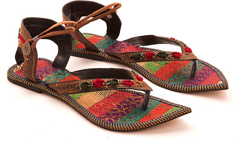 Myra Women Brown Flats