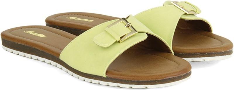 Bata Women Yellow Flats