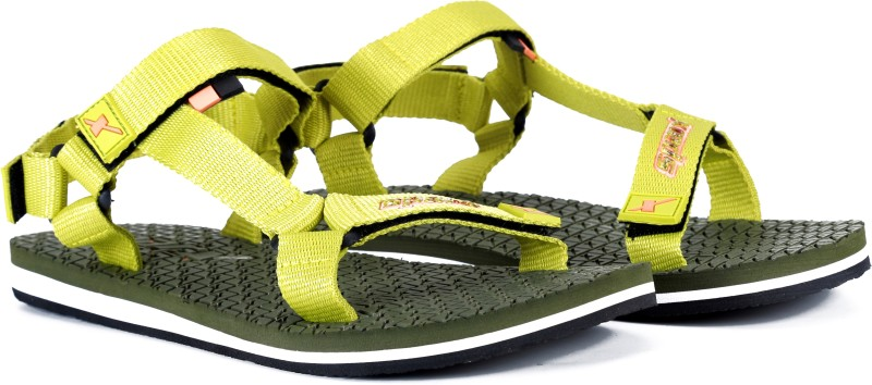Sparx Women OliveLemonGreen Sports Sandals