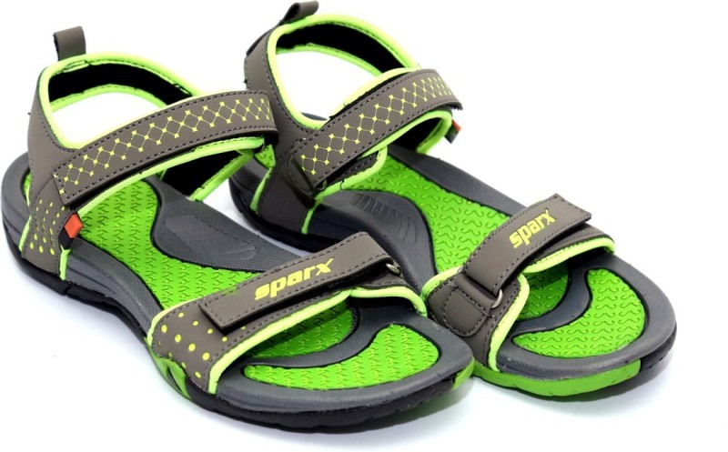 Sparx Women DarkGreyFlourscentGreen Sports Sandals