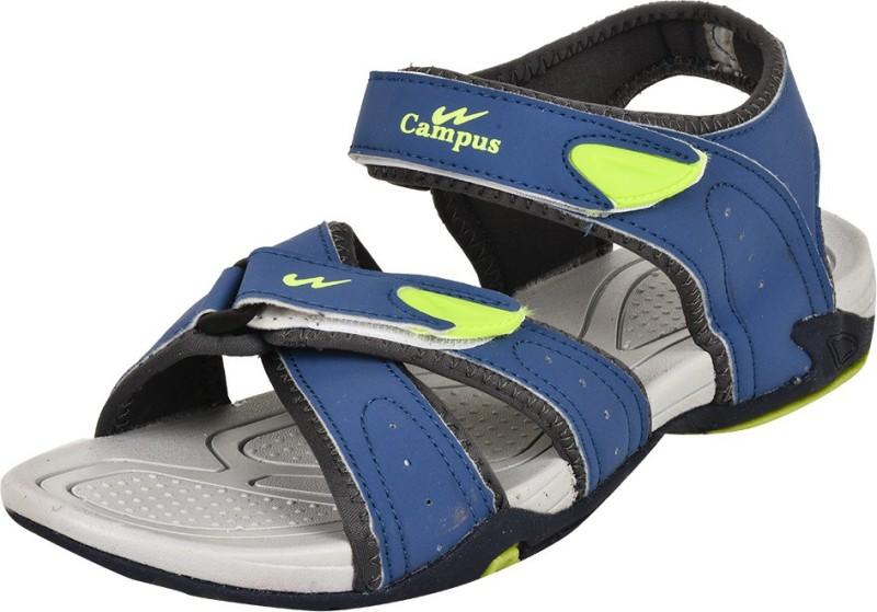 Campus Men Blue-Green Sandals